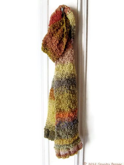 Multi-coloured Naturally Dyed Scarf £45.00