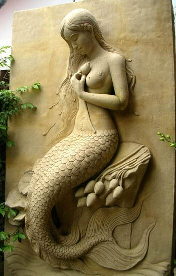Неизвестен художник.  Обичам тази ................. А риба момиче винаги ще обичам русалки !:
