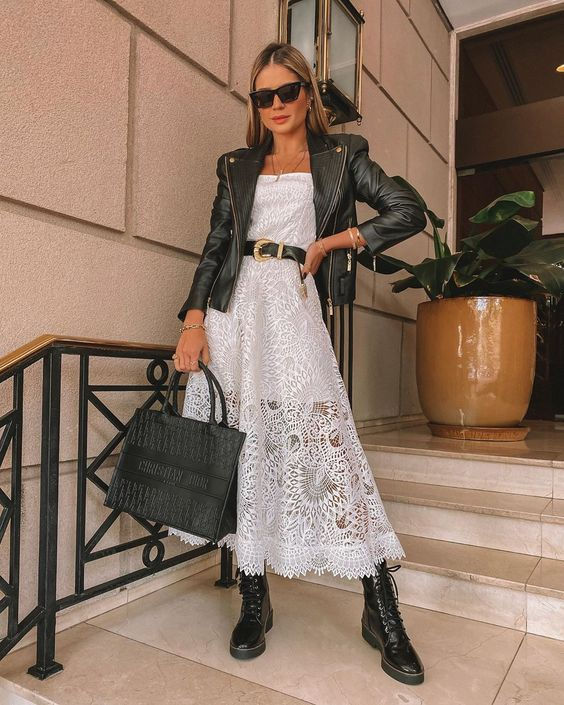 Look elegante e fashion com coturno