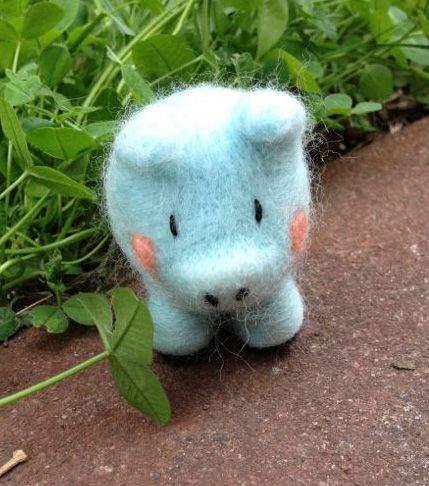Chanchito bebé azul