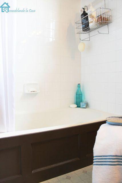 Bathtub Wood Panel Cover Diy Bathtub Diy Wood And Bathtubs
