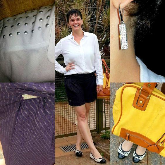 LEILA DINIZ advogada blogueira youtuber: #LookDoDia vida real: camisa branca + bermuda com ...