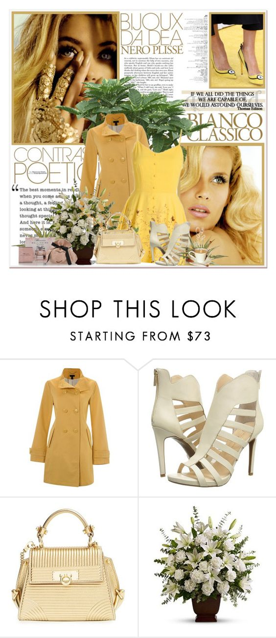 """""""Classico"""" by mlucyw on Polyvore featuring Consuelo, Lands' End, Jessica Simpson, Salvatore Ferragamo, PLANT, Blumarine, women's clothing, women's fashion, women and female"""