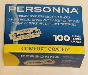 PERSONNA DOUBLE EDGE STAINLESS STEEL BLADES _ BOX OF 100 BLADES W/DISPENSER