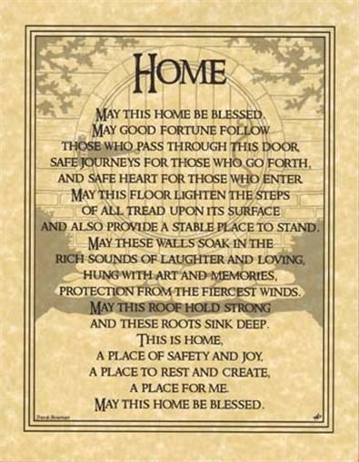 HOUSE BLESSING Parchment Page for Book of Shadows or Poster!  pagan wicca witch: