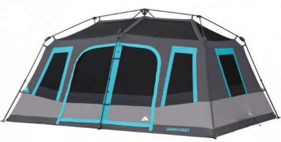 Ozark Trail 10 Person Dark Rest Instant Cabin Tent Best Tents For Camping Cabin Tent Family Tent Camping