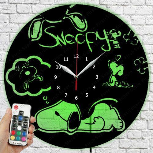 Led Clock Snoopy Vinyl Record Wall Clock Led Light Clock 79 Wall Clocks Ebay Link In 2020 Led Clock Clock Wall Clock