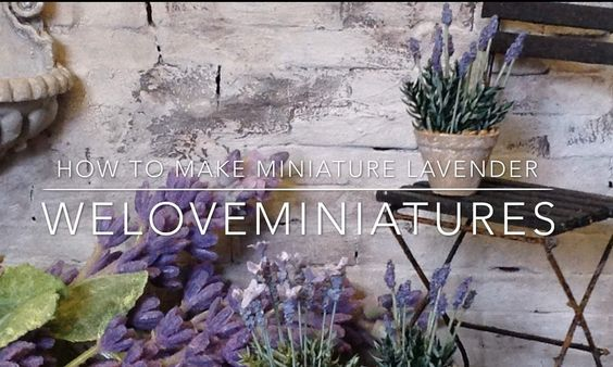 In today's tutorial I will show how I make miniature lavender scale 1:12 using sand and lycopodium. Visit my website: www.weloveminiatures.com