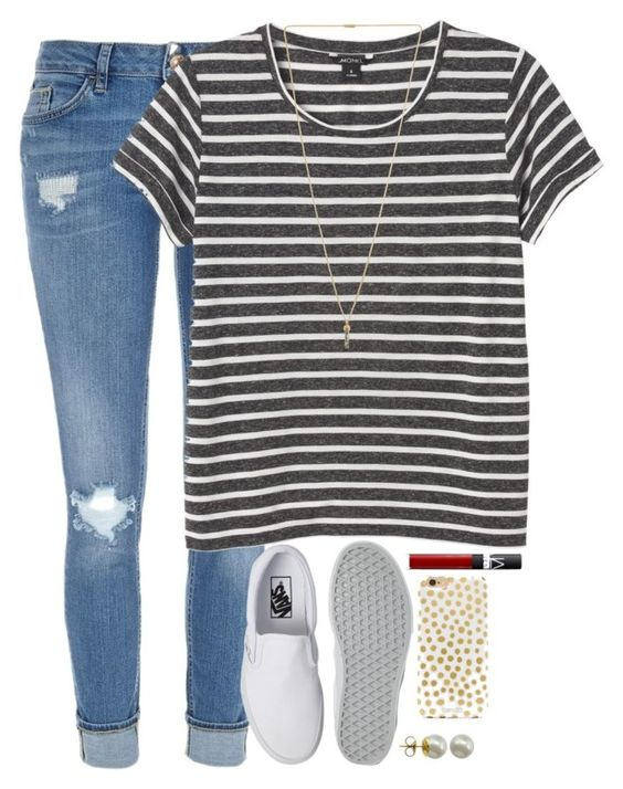 """""""I NEED YOU GUYS! READ D"""" by kaley-ii ❤ liked on Polyvore featuring River Island, Monki, Pilgrim, Vans, NARS Cosmetics, BaubleBar and Majorica"""
