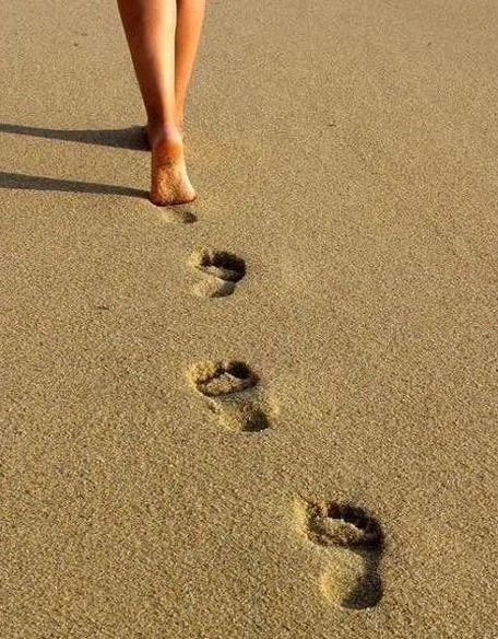 footprints in the sand #beach