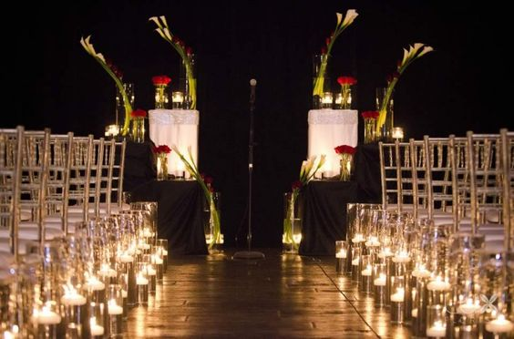 Candle lit romantic ceremony