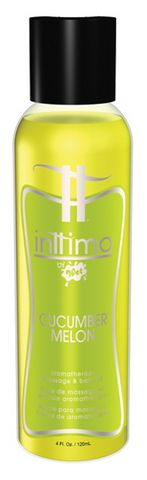 Inttimo Aromatherapy Massage And Bath Oil Cucumber Melon - 4 oz. Funtimes209