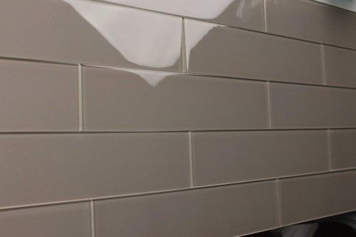 Bathroom Shower Smokey Grey Glass Tile Zen 3x12 Warm Gray Subway Glass Tile Kitchen Bathroom