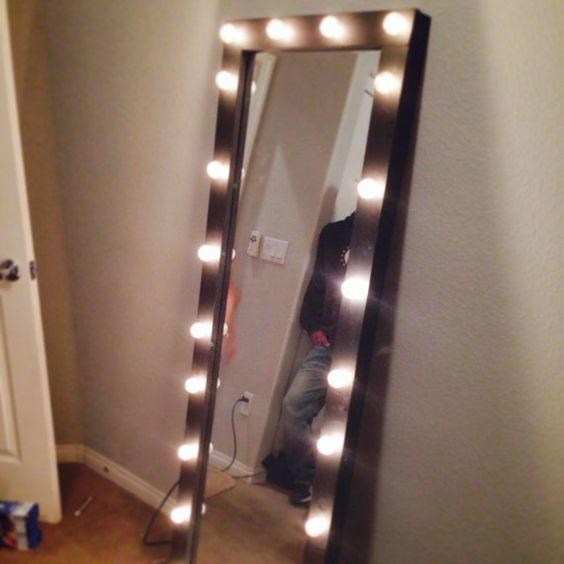 Vanity Mirror With Lights Etsy : Full length lighted vanity mirror Yup! I m buying this Pinterest Lighted vanity mirror ...