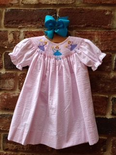For your Fairy Princess - a beautiful Smocked Bishop dress from Lambs in Ivy!  Please visit us:  https://www.soldsie.com/lambsinivy for details!