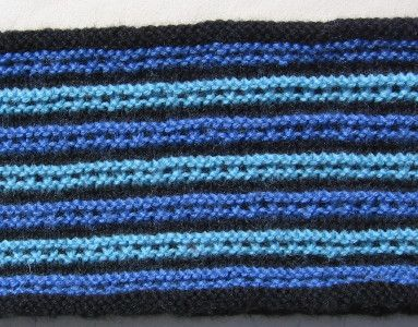 Vertical Striped Scarf Knitting Pattern : An easy-to-knit scarf with vertical stripes worked in a simple slip stitch pa...