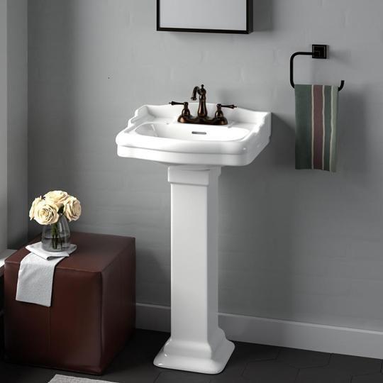 Pedestal Sink Bathroom, Small Bathroom Pedestal Sink
