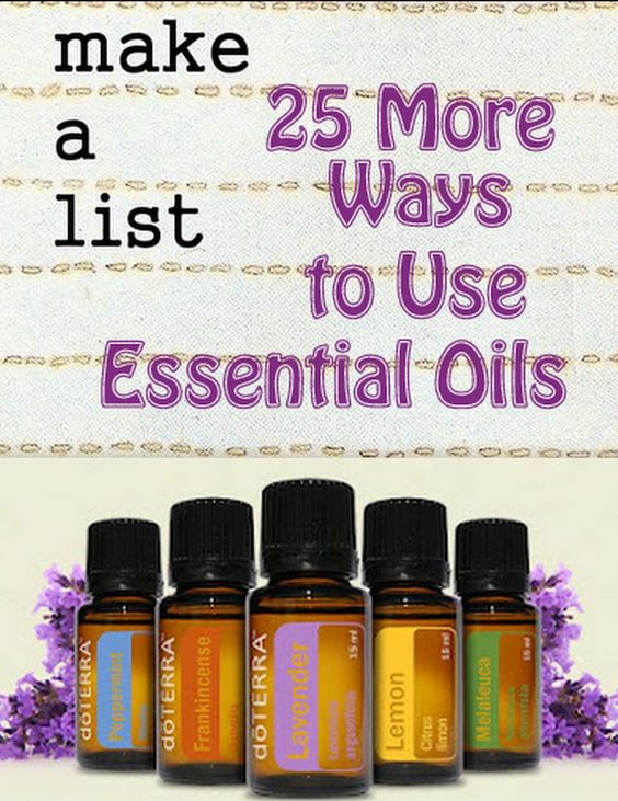Another Big Fat List of Great Ways to Use Essential Oils!  #oils4everyone