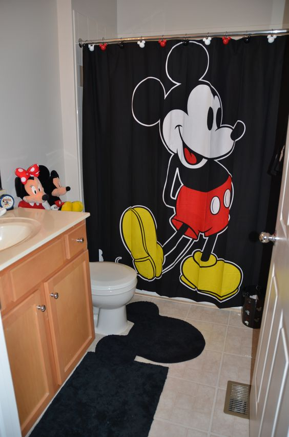 Disney bathroom  I  39 m still looking for some red white and black. Disney bathroom  I  39 m still looking for some red white and black