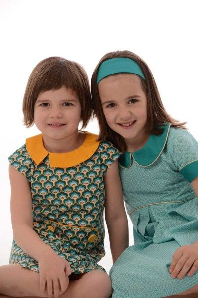 Stunning dresses made with Soft Cactus fabric - sewing patterns by Compagnie M