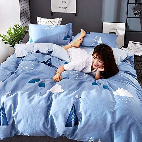 Zt Home Lightweight Duvet Cover Set Queen 3 4 Pcs Double Plain Brushed Cotton Bedding Duvet Cover Wit King Size Bedding Sets Bedding Sets Grey Bed Duvet Covers