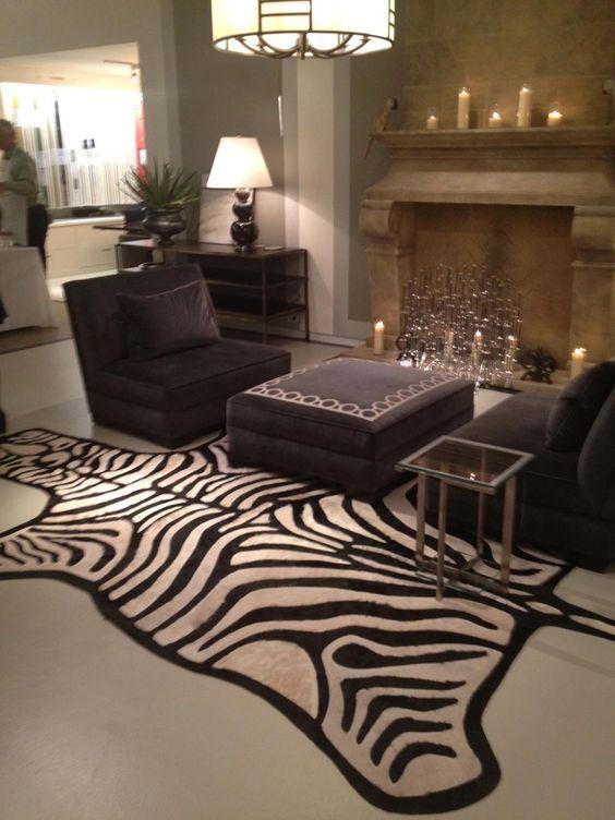 Kyle Bunting Zebra Rug / Living room ideas