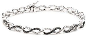 "10k White Gold Black and White Diamond Infinity Bracelet (1 1/2 cttw), 7""  Product ViewSee larger image and other views (with zoom)Product Screenshots http://ecx.images-amazon.com/images/I/41yxq2-4CGL._SL300_.jpg http://electmejewellery.com/jewelry/bracelets/10k-white-gold-black-and-white-diamond-infinity-bracelet-1-12-cttw-7-com/"
