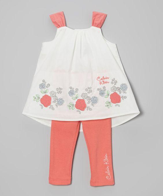 Another great find on #zulily! Calvin Klein Underwear Dark Pink & White Floral Dress & Leggings by Calvin Klein Underwear #zulilyfinds