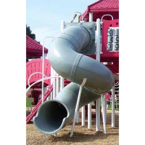 Spiral Tube Slide 24 72 360 Degree Slide For 6 Foot Deck Br 12