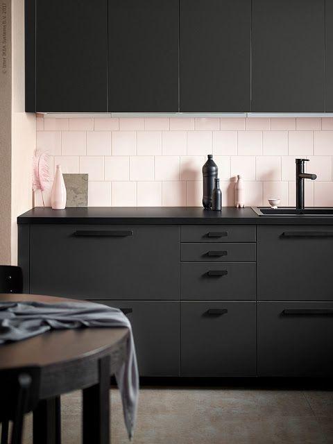 Bildergebnis für ikea kungsbacka For the Home \/\/ Kitchen - ikea kuche schwarz weiss