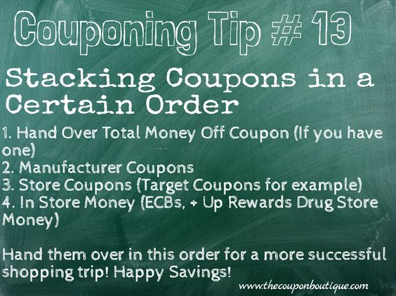 Stacking Coupons in a Certain Order to Maximize Savings - example of a coupon