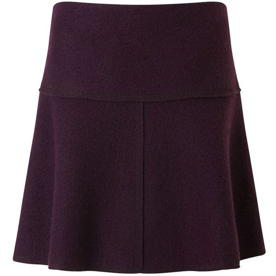 Jigsaw Boiled Wool Flippy Skirt (£98) ❤ liked on Polyvore featuring skirts, mini skirts, plum, women, flippy skirt, purple mini skirt, plum skirt, short mini skirts and jigsaw skirts