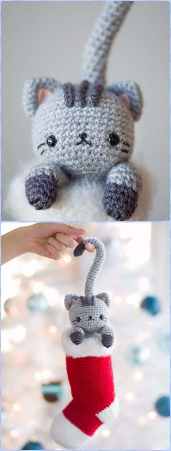 Crochet Curious Christmas CatFree Pattern - Amigurumi Crochet Christmas Softies Toys Free Patterns