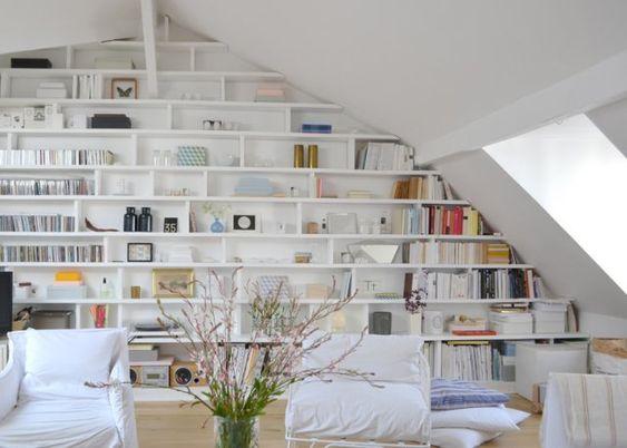 Sweet home maison and mur de biblioth que on pinterest - Bibliotheque decoration de maison ...