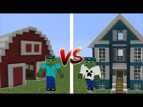 Zombie Mark And Zombie Matty Have A Build Battle Blue House Vs Red House Minecraft Youtube Red House Blue House Flag Game