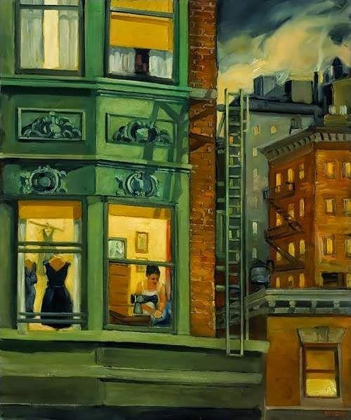 Óleo sobre tela. Sally Storch (1952 - ).