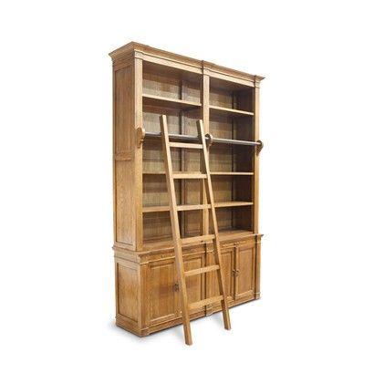 Armario kent librant c/ escada em carvalho americano - 2,70x1,86x48 cm - CeciliaDale