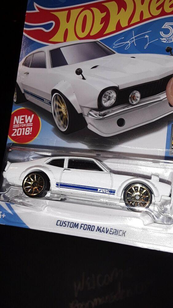 2017 Mattel Hot Wheels Custom Ford Maverick 1 64 Die Cast White