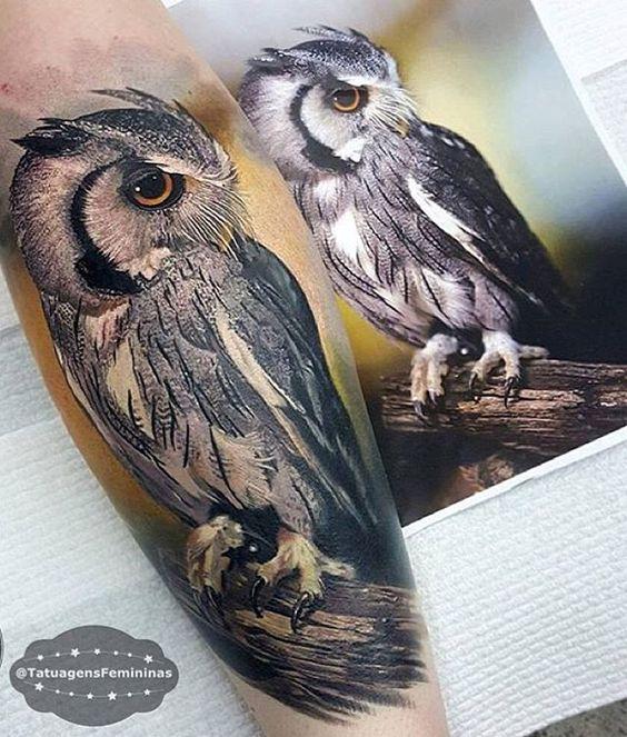 WEBSTA @ tatuagensfemininas - Coruja realista / Owl .ℐnspiração 〰 ℐnspiration .#tattoo #tattoos #tatuagem #coruja #tatuaje #ink #tattooed #tattooedgirls #TatuagensFemininas
