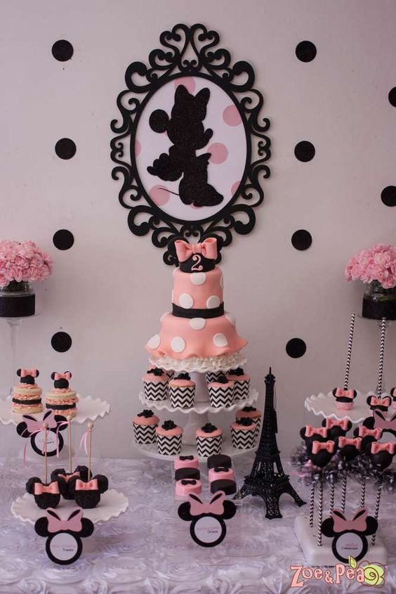 Minnie Mouse in Paris Birthday Party!  See more party planning ideas at CatchMyParty.com!: