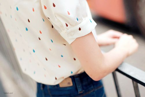 This is kind of like our sprinkle print that we have for our silk blouse collection.: