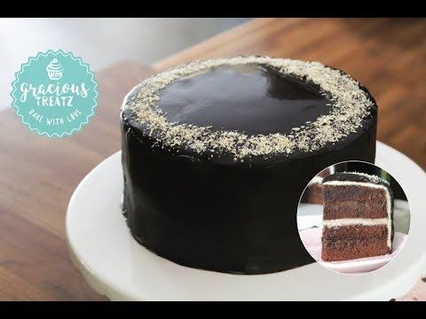 Chocolate Sponge Cake With Chocolate Ganache Frosting Youtube