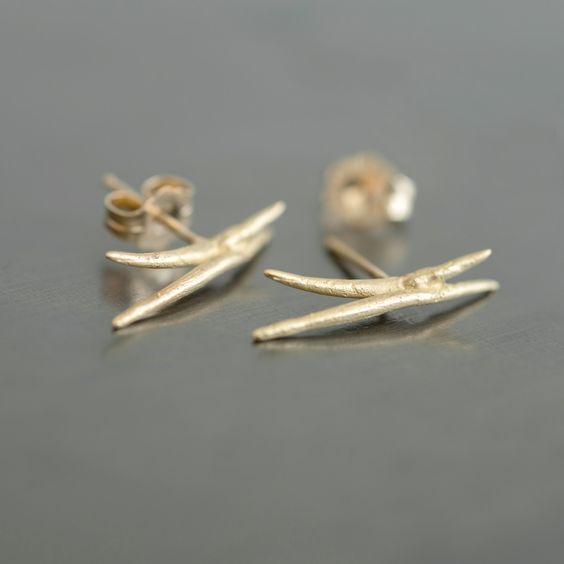 Crossed Stick Earrings