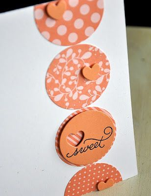 Greeting Card It is a very simple card. It would be easy to make with a circle punch and a mini heart punch.