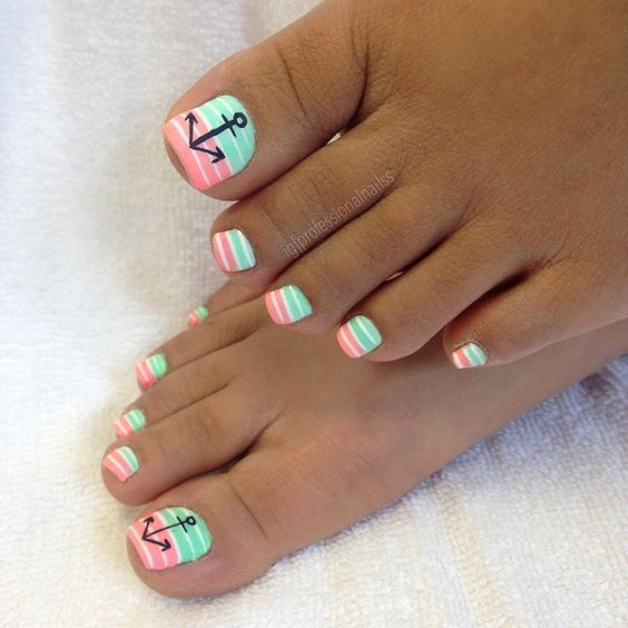53 Summer Beach Toes Nail Designs For 2019 Koees Blog Summer Toe Nails Beach Toe Nails Cute Toe Nails