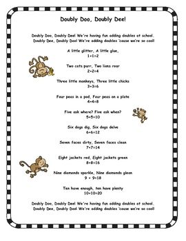 math worksheet : free a cute poem that helps kids learn doubles perfect for math  : Math Poems For High School Algebra