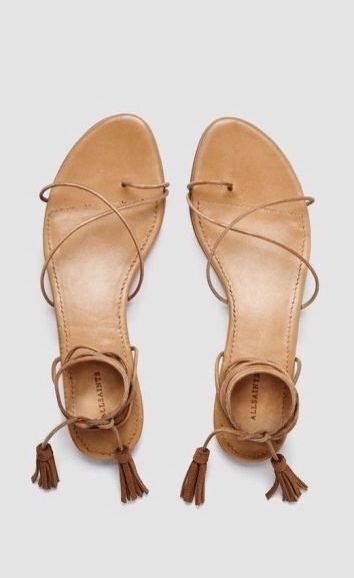 For a pair of shoes that will go with any day look, choose nude sandals.