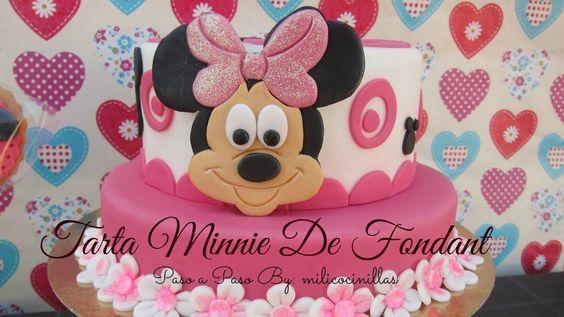 Tarta Minnie de Fondant (step by Step)