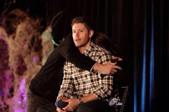 Jensen Ackles & Jared Padalecki being adorables awwwww #Torcon 2014 #Supernatural