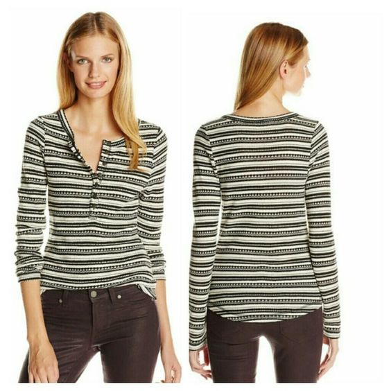 Lucky Brand Chloe thermal tee small